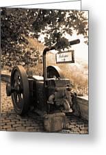 Vintage Machinery Greeting Card