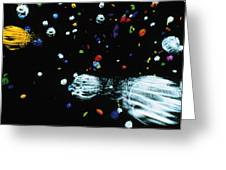 Visualisation Of Primordial Quark/gluon Plasma Greeting Card