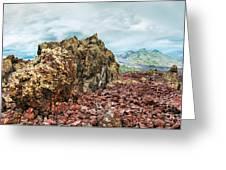 Volcano Batur Greeting Card