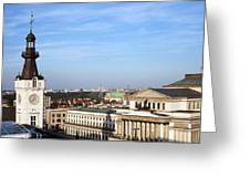 Warsaw Cityscape Greeting Card