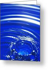 Water Drop Impact, High-speed Photograph Greeting Card