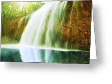 Waterfall Pool Greeting Card