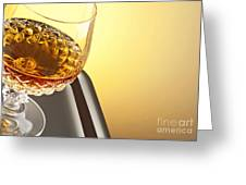 Whiskey In Stem Glass Greeting Card