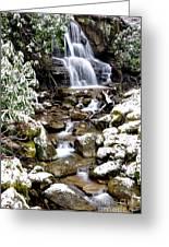 Winter Waterfall Back Fork Of Elk River Greeting Card