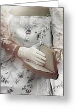 Woman With A Book Greeting Card