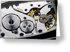 Wrist Watch Interior Greeting Card by Pasieka