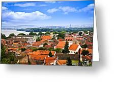 Zemun Rooftops In Belgrade Greeting Card