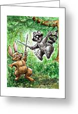 20 - Jennings State Forest - Sword Play Greeting Card