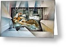 #20 Reclining Nude Greeting Card