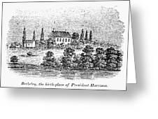 William Henry Harrison Greeting Card