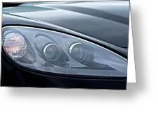 2002 Chevrolet Corvette Head Light Greeting Card