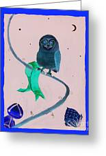 2008 Owl Negative Greeting Card by Lilibeth Andre
