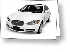 2009 Jaguar Xf Luxury Car Greeting Card