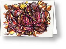 2010 Abstract Drawing 24 Greeting Card