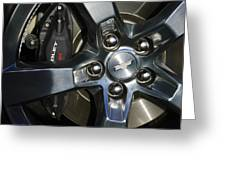 2011 Chevrolet Camaro Wheel Greeting Card