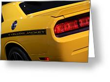 2012 Dodge Challenger Srt8 392 Yellow Jacket Greeting Card