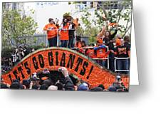 2012 San Francisco Giants World Series Champions Parade - Dpp0004 Greeting Card by Wingsdomain Art and Photography