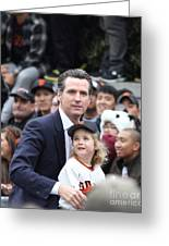 2012 San Francisco Giants World Series Champions Parade - Gavin Newsom - Dpp0005 Greeting Card by Wingsdomain Art and Photography