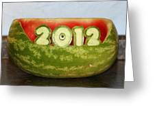 2012 Watermelon Carving Greeting Card