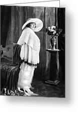 Silent Film Still: Woman Greeting Card