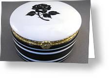 215 Hinged Box Black Rose Greeting Card by Wilma Manhardt
