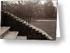 28 Up And Down Steps Greeting Card