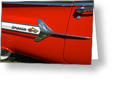 1960 Chevy Impala Convertable Greeting Card