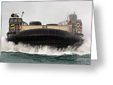 A Landing Craft Air Cushion Approaches Greeting Card
