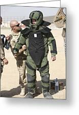 A U.s. Marine Gets Suited Greeting Card