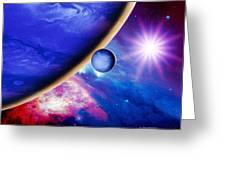 Alien Planet Greeting Card