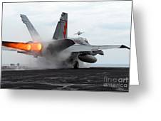 An Fa-18c Hornet Launches Greeting Card by Stocktrek Images