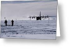Antarctic Airfield Greeting Card