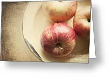 3 Apples Greeting Card