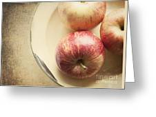 3 Apples Greeting Card