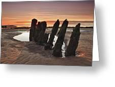 Ardrossan Sunset Greeting Card