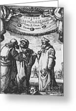 Aristotle, Ptolemy And Copernicus Greeting Card by Science Source