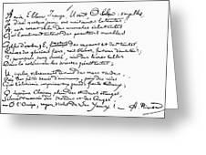 Arthur Rimbaud (1854-1891) Greeting Card
