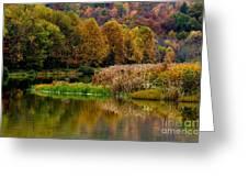 Autumn Big Ditch Lake Greeting Card