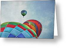 3 Balloons At Readington Greeting Card by Pat Abbott