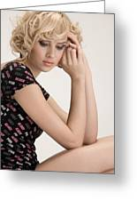 Blond Lady Greeting Card