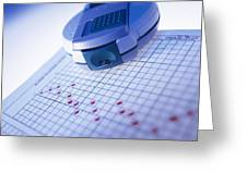 Blood Glucose Tester Greeting Card by Steve Horrell