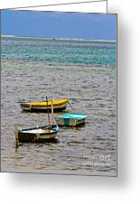 3 Boats Greeting Card