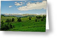 Bridger Mountain View Greeting Card