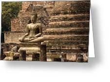 Buddha At Sukhothai Greeting Card