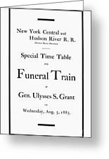 Burial Of Ulysses S. Grant Greeting Card