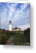 Cape Cod Light Greeting Card by John Greim