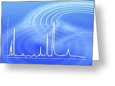 Chromatogram, 2d View Greeting Card