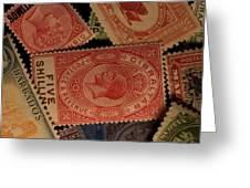 Closeup Of Classic British Empire Greeting Card