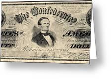 Confederate Banknote Greeting Card