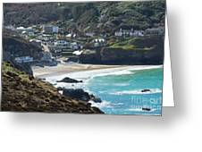 Cornish Seascape St Agnes  Greeting Card